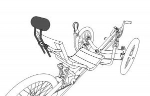 icon of recumbent trike headrest