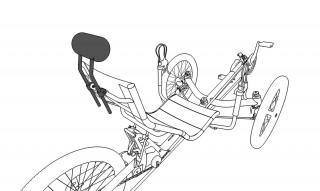 icon of recumbent trike headrest