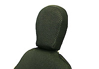 black, nylon headrest for recumbent bicycle