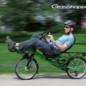 HP Velotechnik Grasshopper Magic Green with Above Seat Steering (ASS) with Tiller