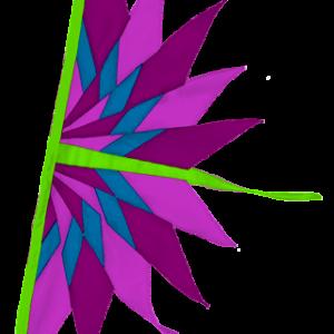 SoundWinds Bike Flag Fan Purple Green 261bkb