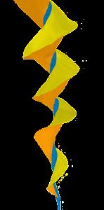SoundWinds Bike Flag Fusilli Small 398sbd Yellow