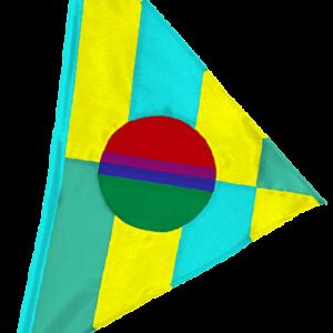 SoundWinds Bike Flag Phoebus Yellow Teal 251bkb