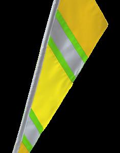 SoundWinds Bike Flag Reflective Fanion Yellow Green 652rfc