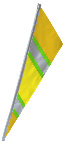 SoundWinds Bike Flag Reflective Fanion Yellow Green 652rfc