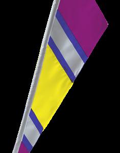 SoundWinds Bike Flag Reflective Fanion Yellow Purple 652rfg