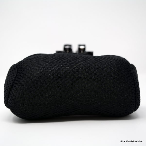 Top view of Black, mesh head or neck rest for your HP Velotechnik recumbent trike