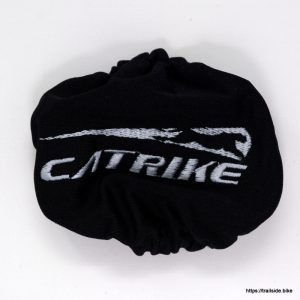 Black, polyester cover for Catrike neck rest cover