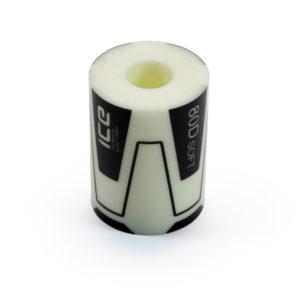 small hard white rubber elastomer