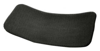 Black, mesh seat cushion for recumbent trike