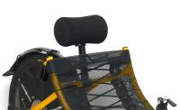 a black multi material headrest