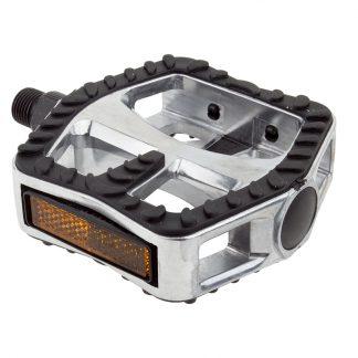 Sunlite Pedals Cruser Alloy Rubber Grip 9/16 Strap Compatible