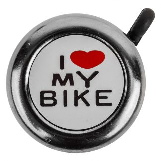 Sunlite Bell I Love My Bike Chrome Plated