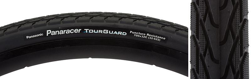 Panaracer Tires Tourguard 700X32 Wire Black On Black