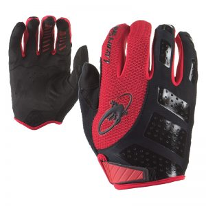 Gloves Lizard Monitor Silver X-Large Bk/Rd