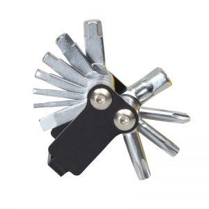 Black, metal multitool for repairing your bicycle