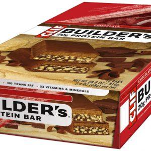 Food Clif Bar Builders Bar Chocolate Box of 12