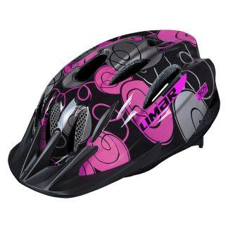 Helmet Lime 505 All-Around M52-57 Swirl Black