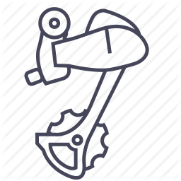 icon of bicycle derailleur