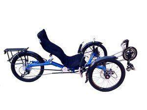 Pretty Blue Trike that folds for your convenience