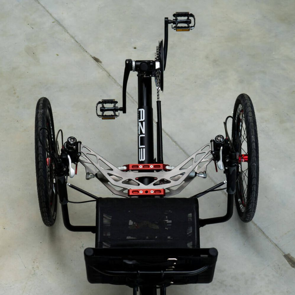 Top view of Azub Ti-Fly Fully Suspended Recumbent Trike