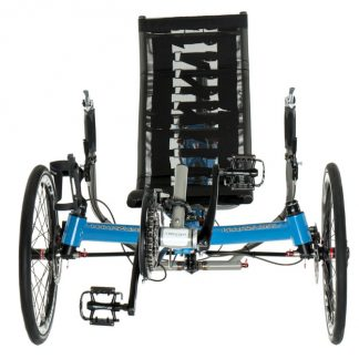 Front, view of Azub TRIcon rear suspension trike