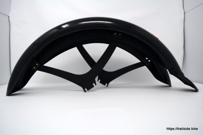 Black, front and rear set of fenders for recumbent trike from HP Velotecknik